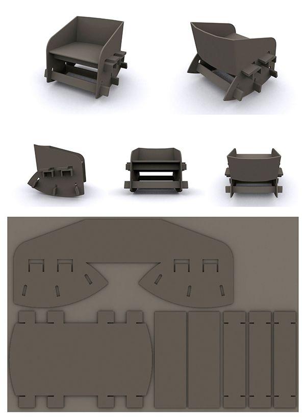 https://www.behance.net/gallery/1986129/Cardboard-Rocking-Chair