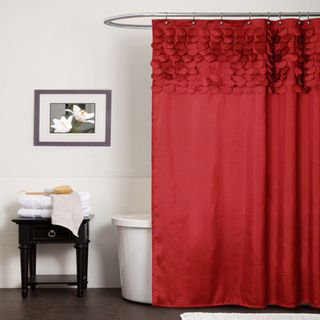 Lush Decor Lillian Red Shower Curtain | Overstock™ Shopping - Great Deals on Lush Decor Shower Curtains