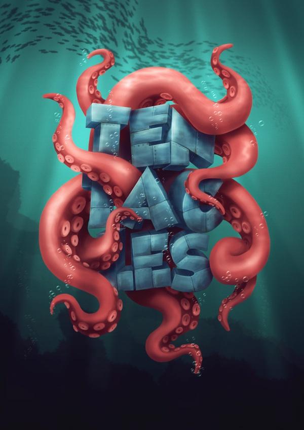Tentacles by Rafał Zagórny, via Behance