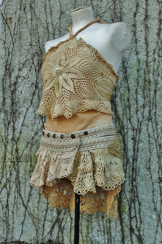 under the golden pearl moon leather and crochet lace by linusmanus, €166.90