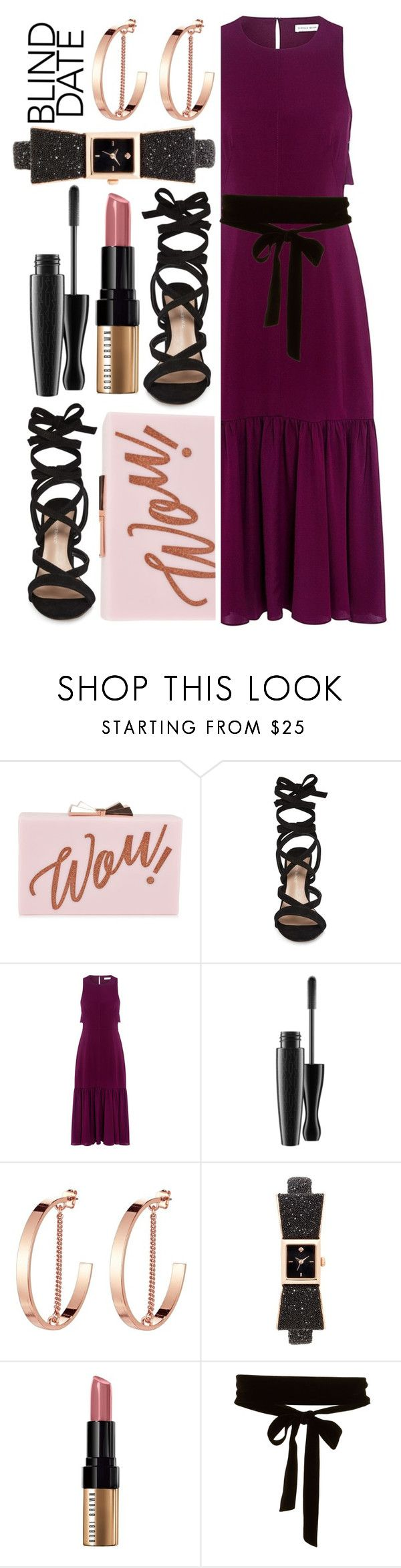"""""""Dress to Impress: Blind Date"""" by alaria ❤ liked on Polyvore featuring Ted Baker, Tony Bianco, Rebecca Taylor, Jenny Bird, Kate Spade, Bobbi Brown Cosmetics and blinddate"""