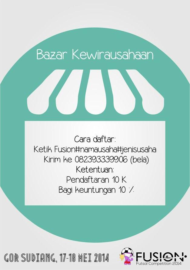 Bazar Kewirausahaan.. #fusion2014
