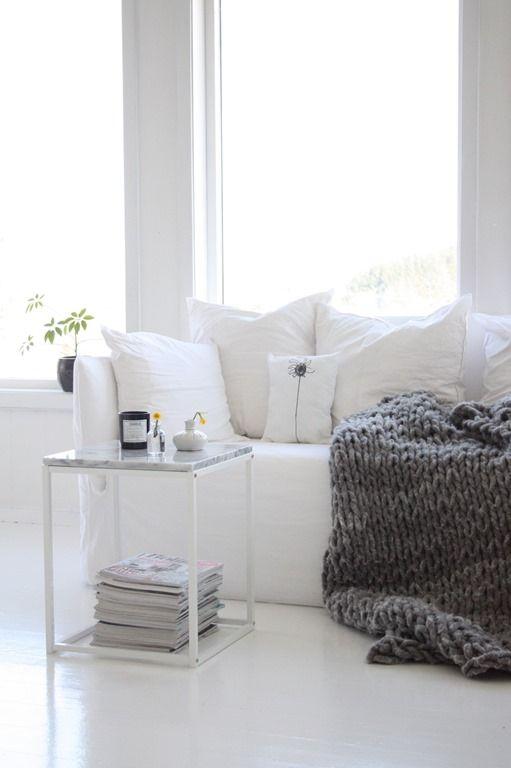 Living Room. White. Light. Simple. Clean. Design. Decor. White Sofa. Home.
