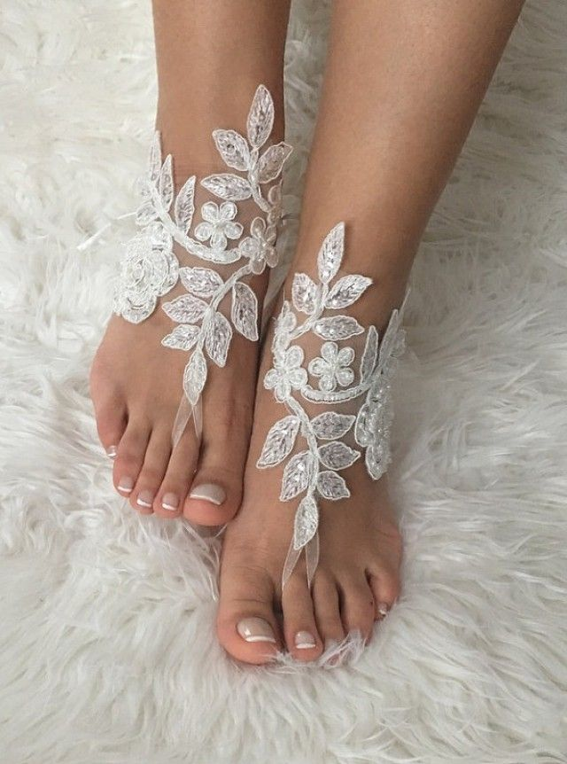 white or ivory Lace Barefoot Sandals, Beach Wedding barefoot sandals, belly dance, lace shoes, wedding shoe, Beach shoes,Holiday Jewelry, Girlfriend Gift, Sister Gift, Statement Jewelry, Holiday Outfit, Gifts for Girlfriend, One of a Kind Gifts, Gifts for Aunt, Mom Gift, Anniversary Gift, Wedding Gift, Holiday Outfit, Gifts for Women, Bridal Gift, Gifts for Bridesmaids, ★★★★★★★★★★★★★★★★★★★★★★★★★★★★★★★★★★★★★★★★★★★★★★★★ FREE SHIPPING ON ALL ORDERS!
