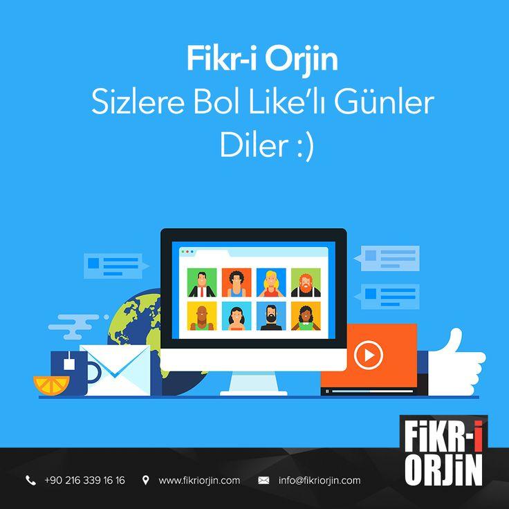 Fikr-i Orjin Sizlere Bol Like'lı Günler Diler :) #digital #graphic #visual #art #web #webdesign #design #social #creative #marketing #work #office #fikriorjin