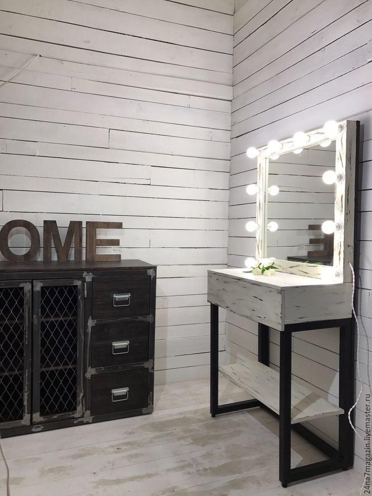 Купить Комплект FLORIDA - комбинированный, набор визажиста, комплект стол и зеркало, косметический стол