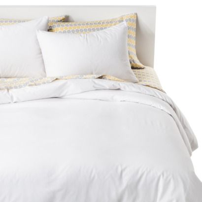 $30 duvet cover set.. Nuetral can add many simple inexpensive touches to spiff it up.