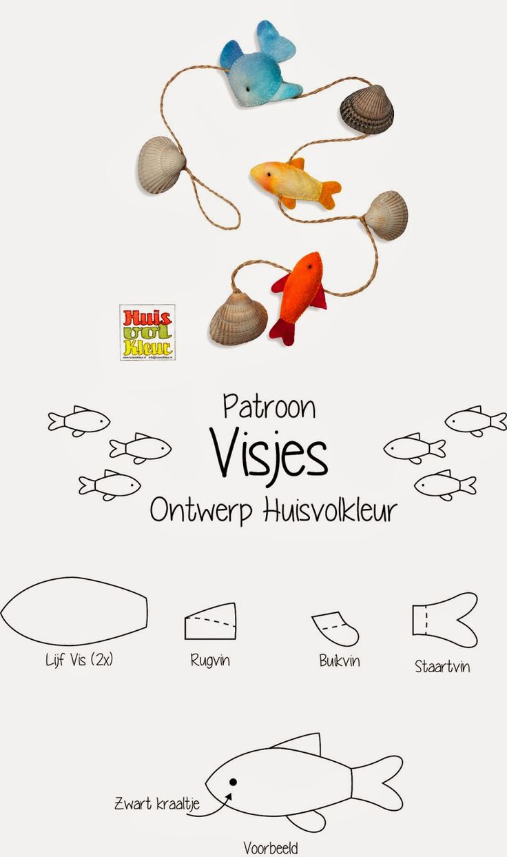 Huisvolkleur - Gratis patroon Visjes