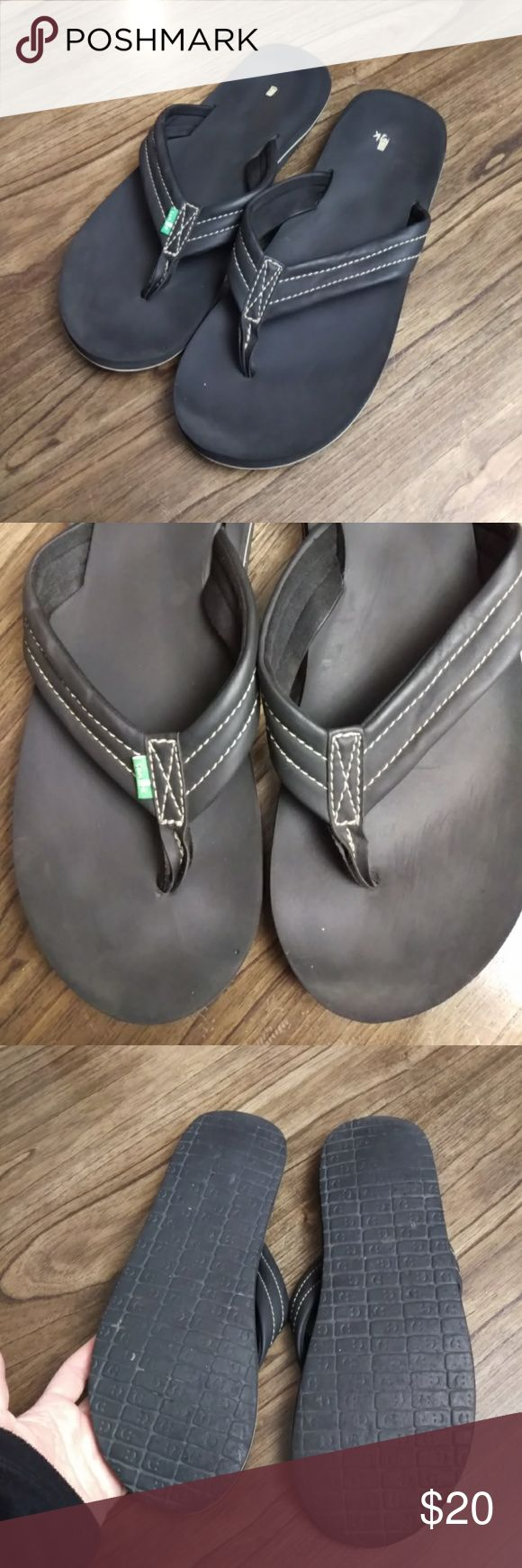 Sanuk Men's Thong Flip Flops/Slip-on Shoes 11 Pre-owned in good condition. Size 11 Sanuk Shoes Loafers & Slip-Ons