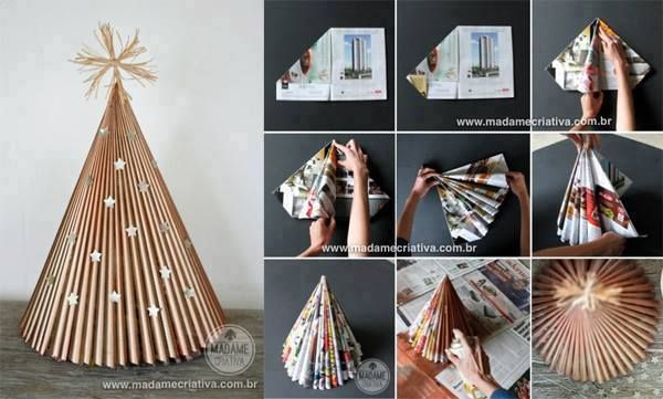 Christmas tree with magazine