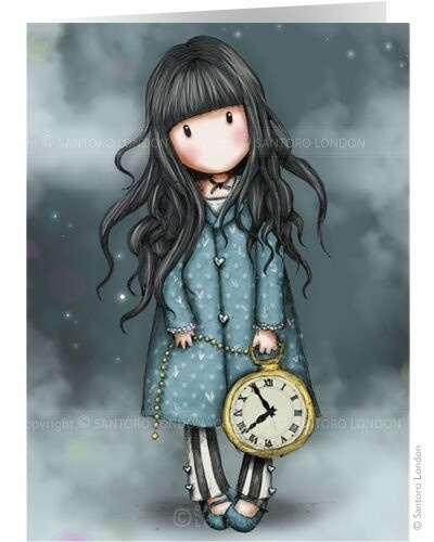 Whimsical girl holing a huge pocket watch? So cute! <3