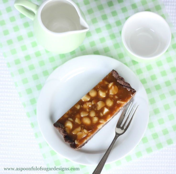 Chocolate-Caramel Macadamia Nut Tart Recipe — Dishmaps