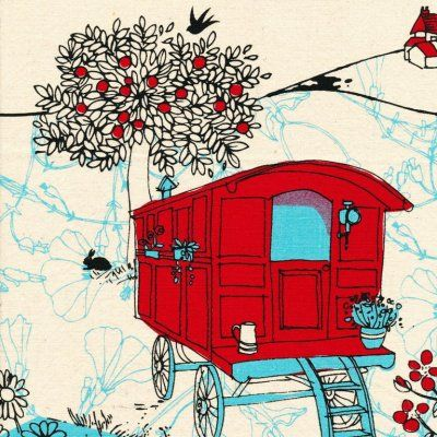 Kristen+Doran+Gypsy+Caravan+Red+Blue