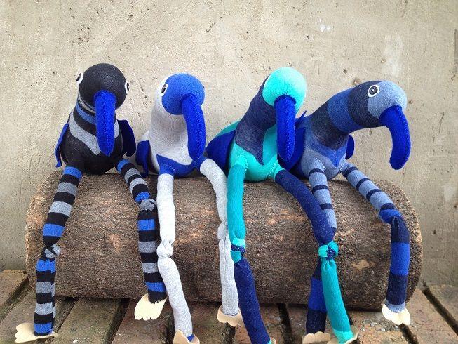 Blue Sock Birds R100 each https://www.facebook.com/snugglebuggoodies