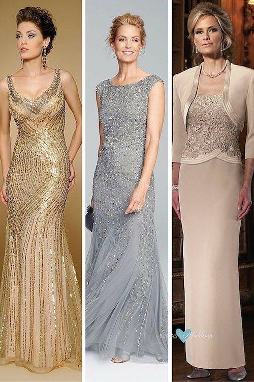 Vestidos para madrina de bodas. New York Dress | Para una boda de noche un Adrianna Papell via Nordstrom en tonos neutrales classy y chic | Con tallas del 6 al 22 este vestido de madrinas te hara lucir espléndida
