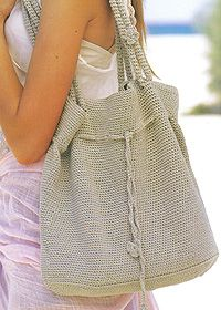 Crochet shoulder bag
