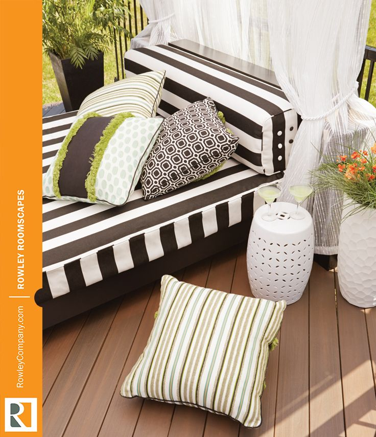 Create A Playful Outdoor Living Space With Weather Friendly Cushions And  Pillows. Use A
