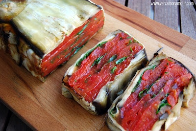 Terrina di melanzane e pomodori  Eggplants & tomatoes terrine
