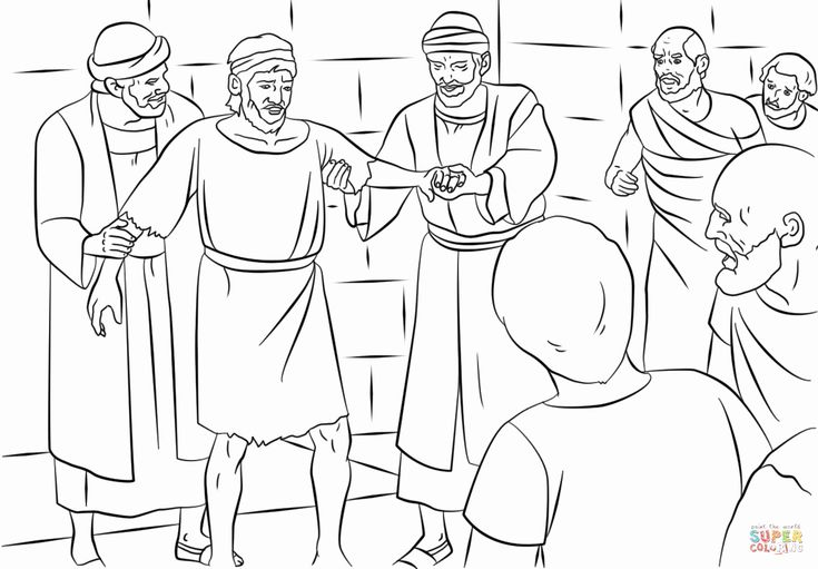 Paul's Second Missionary Journey Coloring Page