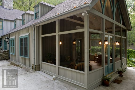 Nashville farmhouse screened porch gable roof