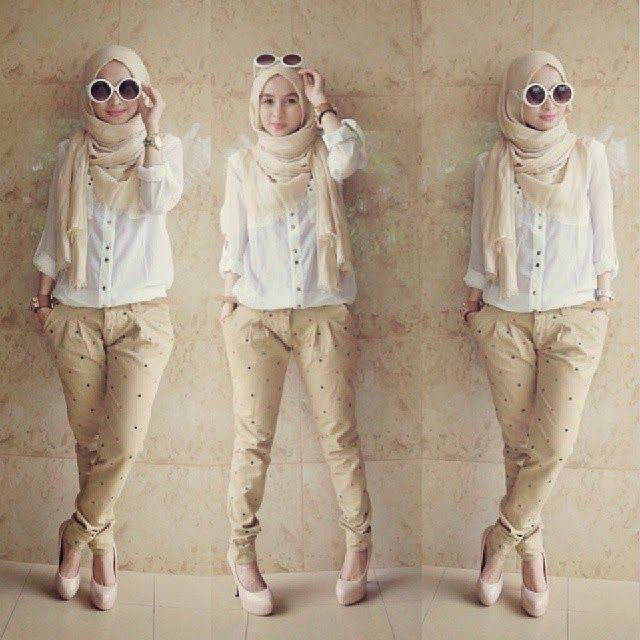 Hijab style | creamy | glasses