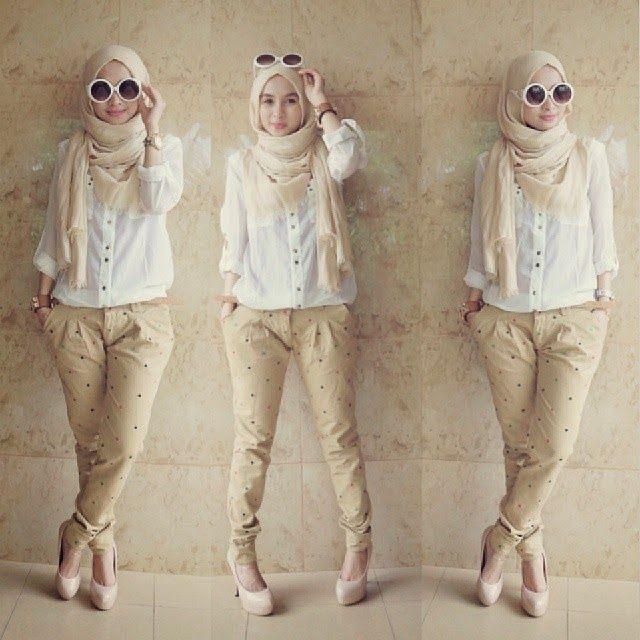 Hijab style | creamy | glasses