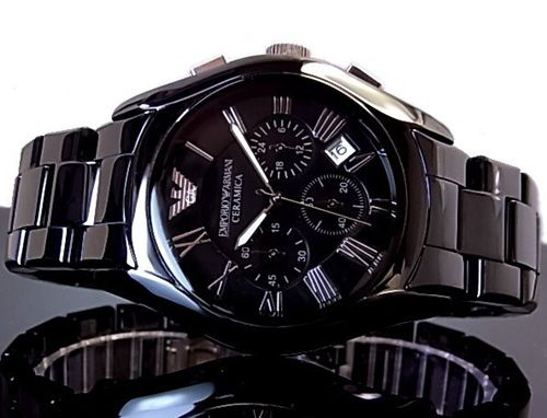Emporio Armani AR1400 Chronograph Black Ceramic Mens Watch