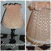 lampada rosa antico