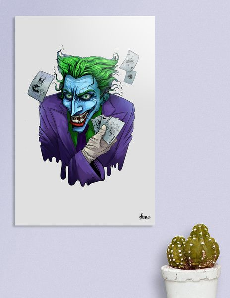 Discover «Joker character», Exclusive Edition Acrylic Glass Print by Diana…