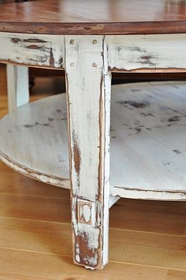 diy for distressing a coffee table or any other piece of furniture distressed