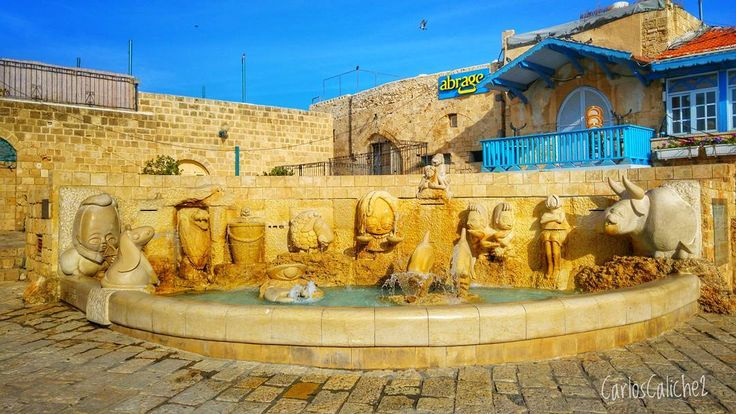 Fuente de vida / #Fountain of #life    #water #animals #religion #bible #telaviv #israel #travel #travelphoto #myphotography #mytravel #explore #discovery #sun #city #art