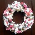 Romantikus rózsaszín kopogtató (29 cm), Esküvő, Otthon, lakberendezés, Nászajándék, Ajtódísz, kopogtató, Meska