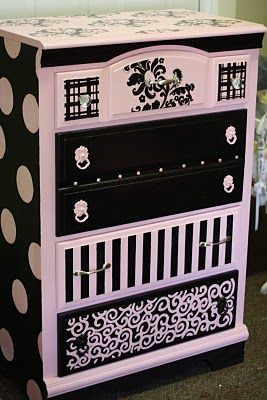 cute! could do this to an old dresser  and do different colors and patterns and turn it into a changing table! - love love love !