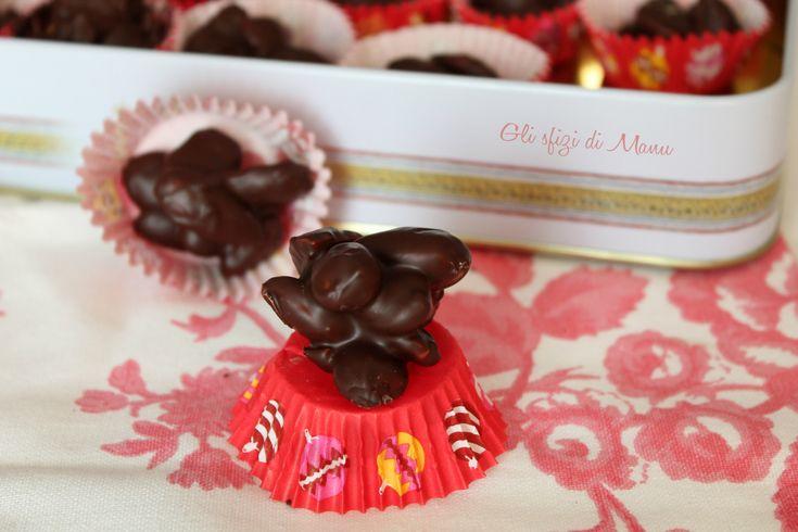 Mandorle al cioccolato, mandorle atterrate