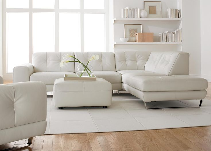 B636 (B636) by Natuzzi Editions - Baeru0027s Furniture - Natuzzi - white leather living room furniture
