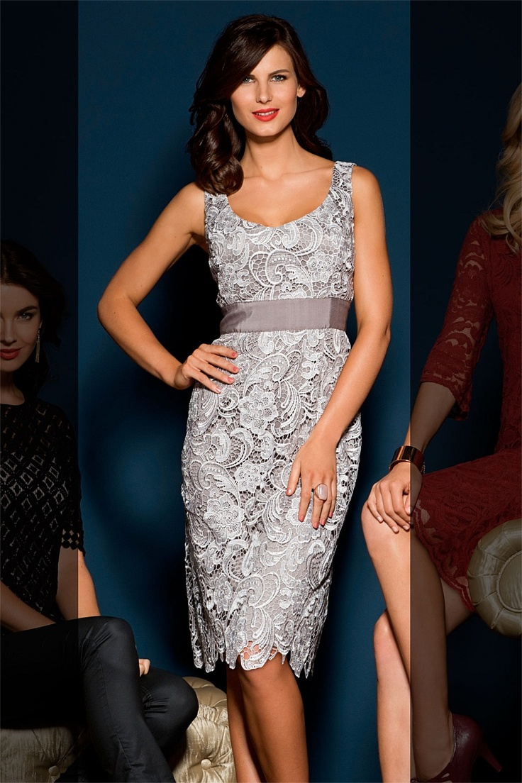 Silver Lace Dress..so elegant looking