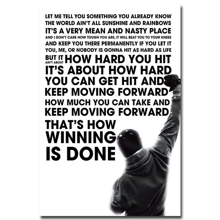 Rocky Balboa Motivational Quote Art Silk Poster Print 12x18 24x36inch Inspirational Wall Picture Home Living Room Decor 011 #Affiliate
