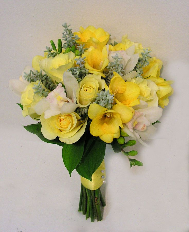 Wedding Flowers Yellow Roses: Beautiful Bouquet With Yellow