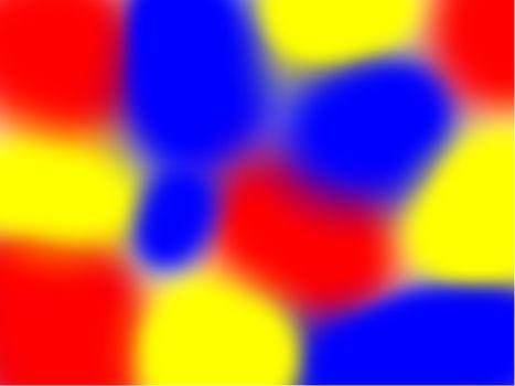 Kleur-tegen-kleur contrast: dat zijn primaire kleuren die samen bij elkaar zijn