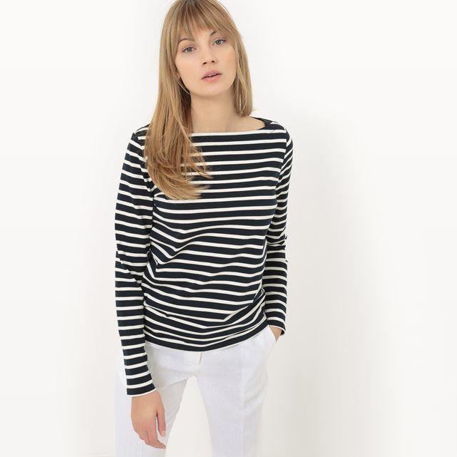Compre T-shirt às riscas, algodão pesado Tendências de moda primavera-verão na La Redoute. O melhor da moda online.