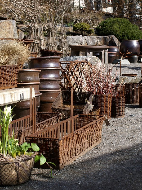 Chocolate themed garden display at Zetas, Sweden via Clyde Oak