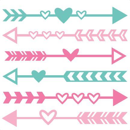 Valentine Arrow Set SVG scrapbook cut file cute clipart files for silhouette cricut pazzles free svgs free svg cuts cute cut files