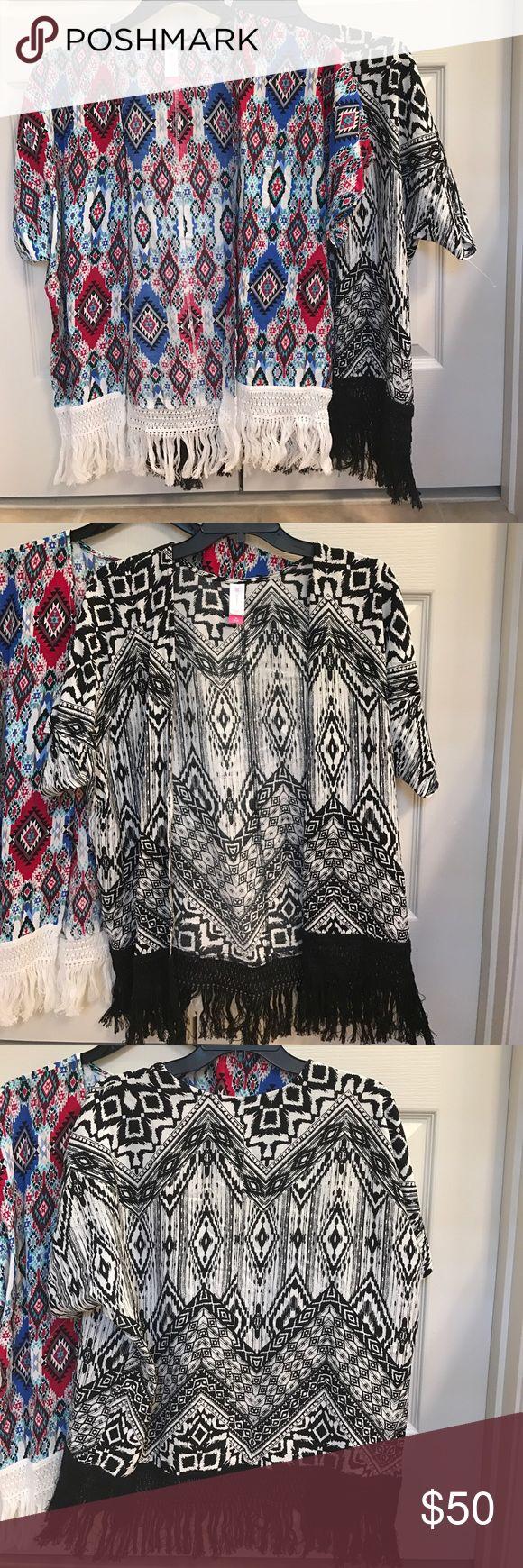 NOBO size M fringe aztec print cardigan bundle NOBO size M fringe aztec print cardigan bundle Sweaters Cardigans