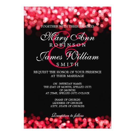 Elegant Elegant Wedding Red Lights Card