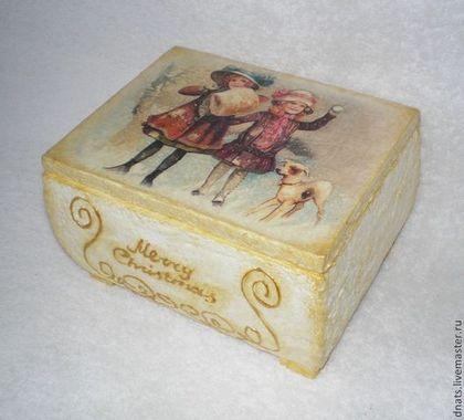 "Шкатулка ""Merry christmas"" - шкатулка деревянная,подарок на любой случай"