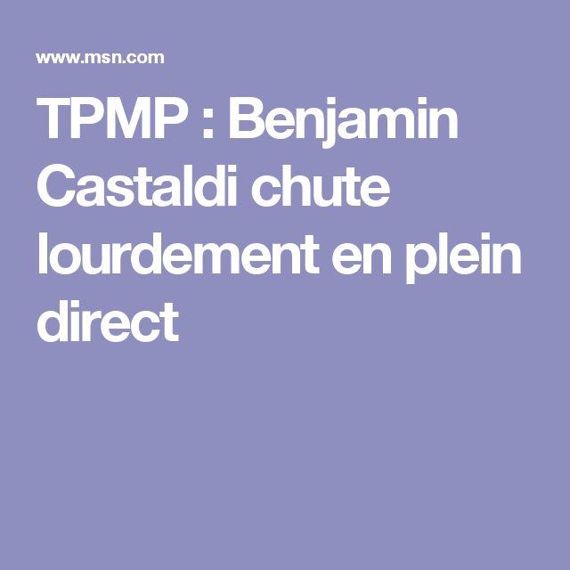 TPMP : Benjamin Castaldi chute lourdement en plein direct