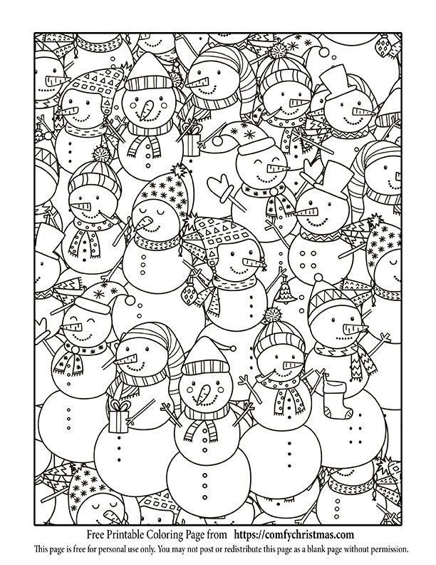Free Printable Holiday Coloring Pages Printable Christmas Coloring Page Printable Christmas Coloring Pages Snowman Coloring Pages Free Christmas Coloring Pages