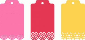 Silhouette Online Store - View Design #48352: assorted ornate decorative trim tags