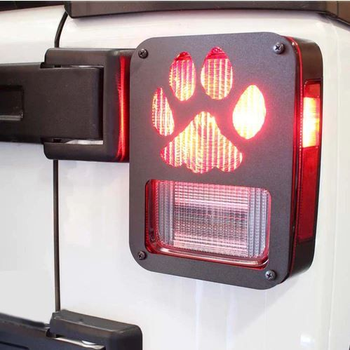 Xprite Paw Print Black Rear Taillight Covers For Wrangler Jk Zs 0004 Claw Tail Lights Covers Jeep Wrangler Tail Light Covers Jeep Wrangler
