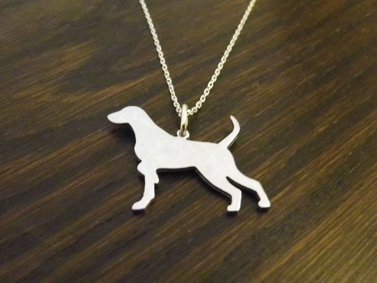 sterling silver pointer dog natural pendant designed by caroline howlett made by me, £29.99
